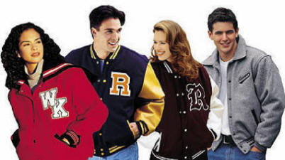 Custom made and custom decorated Varsity letterman jackets
